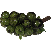 Vintage Large Bunch of Green Glass Grapes