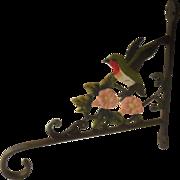 Vintage Cast Wrought Iron Hummingbird Plant Hanger