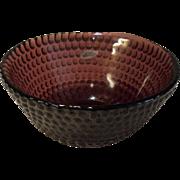 Blenko Handcrafted Maroon Wine Burgundy Bowl with Seal