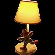 Vintage Clown Child's Lamp with Music Box Do-Re-Mi