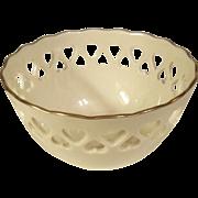 Lenox Reticulated Ivory Heart Bowl Centennial 1889-1989