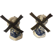 Vintage K & Z Delft Ware Salt and Pepper Set Holland