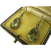 SOLD Stunning Vintage Silver Natural Tourmaline Dormeuses Earrings ~ c1940s