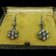 SALE PENDING French Art Deco Silver Paste Earrings ~ c1920s