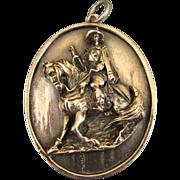 REDUCED Vintage Henryk Winograd Fine Silver Spanish Conquistador Portrait Pendant ~ c1960s