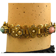 REDUCED Antique French Napoleon III, Ornate Pomponne Bracelet ~ c1860