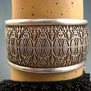 SOLD French Antique Napoleon 111 Era Ornate Silver Filigree Bracelet ~ c1860