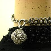 SOLD French Antique Silver Bracelet ~ L' Argent Francais ~ c1890
