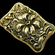 Rare Antique Art Nouveau Sterling Repousse Match Safe Vesta ~ c1890