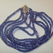 REDUCED Vintage Tanzanite Necklace 14K White Gold