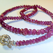 REDUCED Vintage Ruby and Diamond Necklace