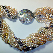 REDUCED Multi-strand Pearl Torsade