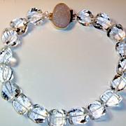 REDUCED Natural Rock Quartz Crystal Necklace
