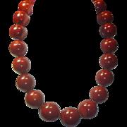 REDUCED Vintage HUGE Coral Bead Necklace