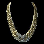 REDUCED Vintage 18K Gold & Diamond Italian Necklace