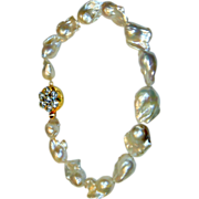 REDUCED Huge Cultured Baroque Pearl Necklace