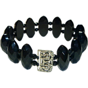 REDUCED Antique Whitby Jet Victorian Bracelet