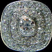 REDUCED Vintage Art Deco Diamond and Platinum Ring