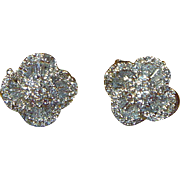 REDUCED Vintage Diamond and 18K Gold Earrings
