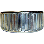 REDUCED Vintage Elongated Baguette and Platinum Eternity Band