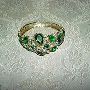 Ornate Rhinestone  Clamper Bracelet