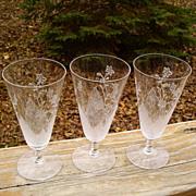 SOLD Fostoria Mystic Parfaits/Juices Set of 3