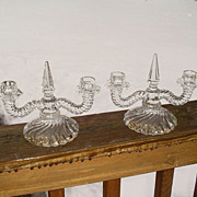 Fostoria Colony Double Candle Holders Pair