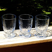 Madrid Blue Depression  Water Tumblers 3 Federal Glass