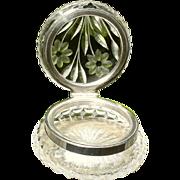 SALE PENDING ABC American Brilliant Period Wheel Cut/Engraved Powder Jar Dresser Box