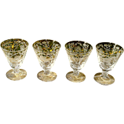 Fostoria Shirley Oyster Cocktail Stems Set of 4