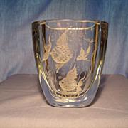 Strombergshyttan Engraved Vase