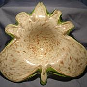 F. Toso Murano Leaf Bowl