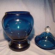 Deep Blue Apothecary Jar
