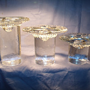 Set of 3 Blenko Candleholders