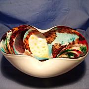 Murano Folded Murrine Bowl