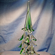 Ten Inch Murano Christmas Tree