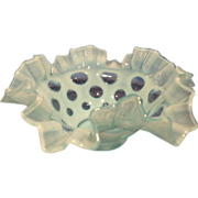 Fenton's Opalescent Coin Dot Bowl