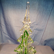 Handmade Green/Clear Christmas Tree