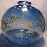 Signed Blown Bubble Cluster Vase