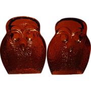 Pair Blenko Owl Bookends