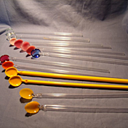 Spoon Tip Blown Glass Stirrers