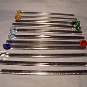 11 Glass Spoon Tip Stirrers