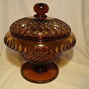 Huge Cut 19th C. Cov'd Pedestal Bowl