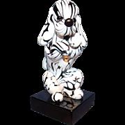 Murano Seguso Bianco Nero Dog
