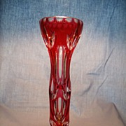 Moser Cut to Clear vase