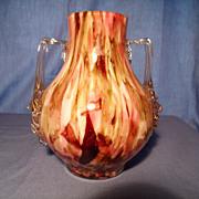 Stevens and Williams Mottled Bud Vase
