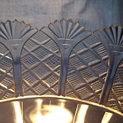 Large Anglo Irish Cut Glass Comport