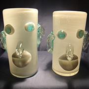 Pair of Art Glass Clown Tumblers