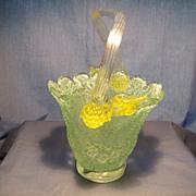 Victorian Overshot Glass Basket
