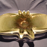 F Toso Murano Butterfly Bowl/Ashtray
